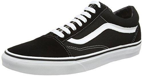 Vans Unisex Old Skool Skate Shoe (40 M EU / 9 B(M) US Women / 7.5 D(M) US Men, Black/White)