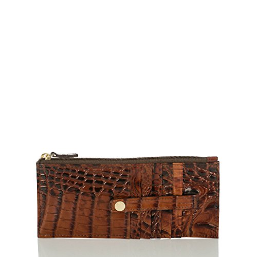 Brahmin Credit Card Wallet, Pecan, One Size from Brahmin