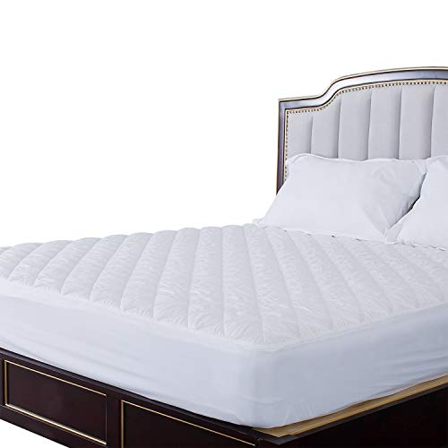 - HOS LINENS Waterproof Mattress Pads Cover Hypoallergenic Quilted TPU Laminated on Top Deep Pocket Up to 18