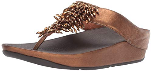 - FitFlop Women's Rumba Toe-Thong Sandals Flip-Flop Bronze 9 M US