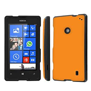 NakedShield AT&T Nokia Lumia 520 (Orange) Total Hard Armor LifeStyle Phone Case