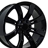 OE Wheels 22 Inch Fits Chevy Silverado Tahoe GMC Sierra Yukon Cadillac Escalade Style CA82 22x9 Rims Gloss Black SET