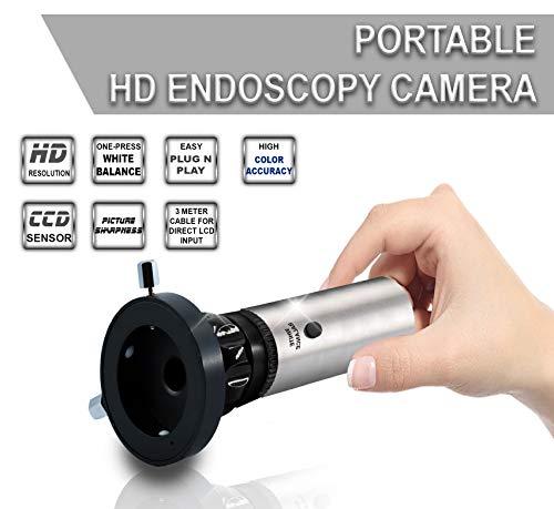 Esc Endoscopy Camera Portable Hd Rigid Ent Endocam w/Coupler Adapter 1.2 Megapixel 720p Sensor w/White Balance (Model : ENT-2000US-P)