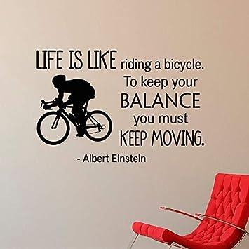 La Vida Es Como Andar En Bicicleta Equilibrio Pegatinas De Pared ...