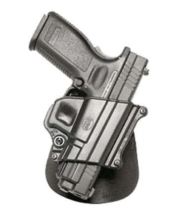 Fobus Tactical SP-11B A Standard Right Hand Conceal Carry Polymer Ankle Holster For Springfield XD, XDM / HS 2000 / Taurus PT609, Titanum - Black
