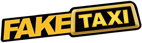 Aemiy 2Pcs Fake Taxi Car Sticker Decal Emblem Self Adhesive Vinyl Stickers for Car Van