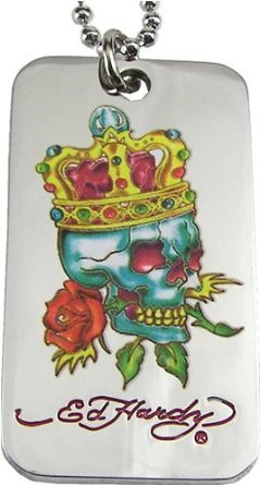 Don Ed Hardy Necklace Officially Licensed Tattoo Dog Tag Originals