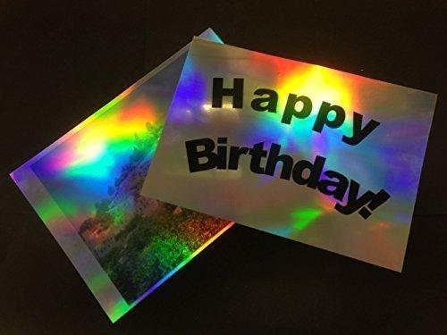 Inkjet bedruckbar Metallic glänzend Perlglanz holographische Folie Effekt 100Mikron A430Blatt Madaboutink