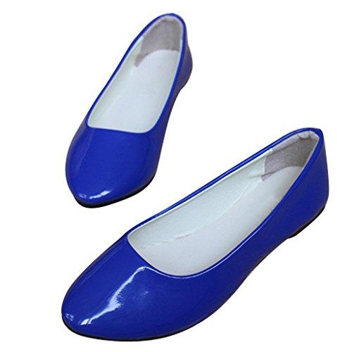 Dear Time Women Slip On Ballet Flats Pointed Toe Ballerina Shoes Jewelry Blue yzwctvm
