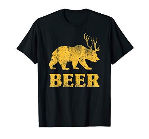 Bear+Deer=Beer Funny T-Shirt