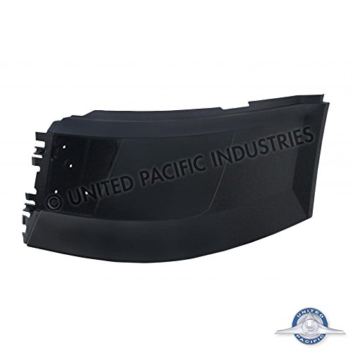 (Volvo VNL 2004 & Newer Bumper End LH With Fog Light Hole Stud Mount by United Pacific)