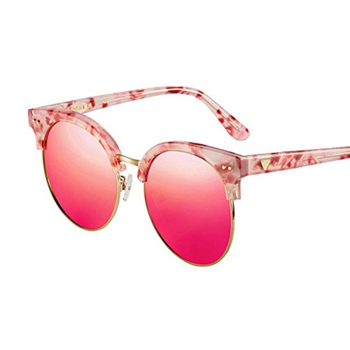 multicolore A de longueur femmes hommes Ultra soleil soleil Large pour Lunettes soleil polariseur pour en de verres Hommes lunettes marbre lunettes demi de aBqWU8HS