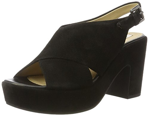 Geox D Zaferly B, Sandalias de Tacón para Mujer Negro (Blackc9999)