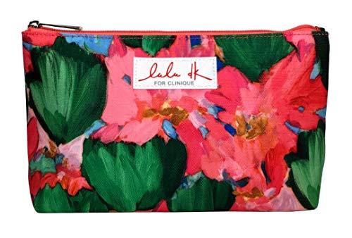 (Clinique Colorful Original Flowers Pattern Makeup Bag/Cosmetic Bag/Make-up Bag)