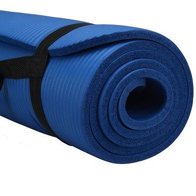 10mm Thick Non-Slip Yoga Mat Pad Exercise Fitness Light Weight 72″x24″ Workout