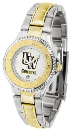 Cowboys Watch Wyoming Ladies - SunTime Wyoming Cowboys Competitor Ladies Watch with Two-Tone Band