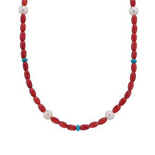 American West Jewelry Red Coral Beaded Necklace, 17'' by American West