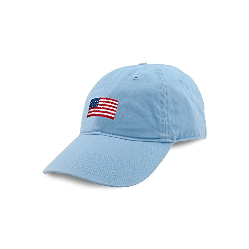 (Smathers & Branson Men's Hat One Size American Flag/Sky)