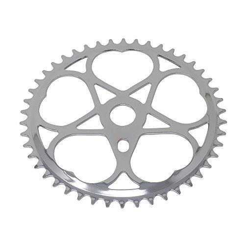 Chrome Sprocket - Fenix Sweet Heart Bike Sprocket/Chainring, 46T Chrome, Various Thickness (46 Teeth (1/2 x 1/8))