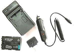 JIOOYEE Battery + Charger For Sony MVC-CD300 MVC-CD400 MVC-CD500 Mavica Digital Camera