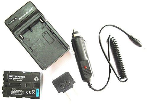 JIOOYEE Battery + Charge?r for Sony Handycam DCR-TRV280 DCR-TRV80 DCR-TRV70 HDR-SR1 NP-FM50