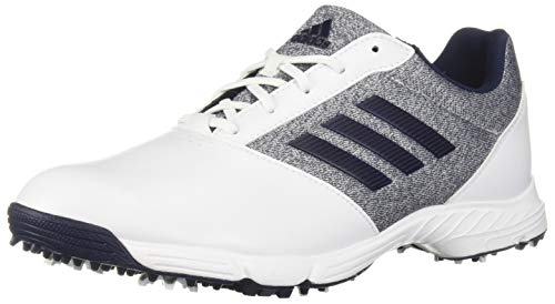 adidas Womens TECH Response Golf Shoe, White/Silver Metallic/Indigo, 8 M US