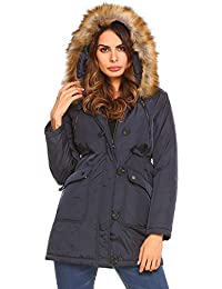 Women's Mid-Length Winter Warm Military Hooded Parka...