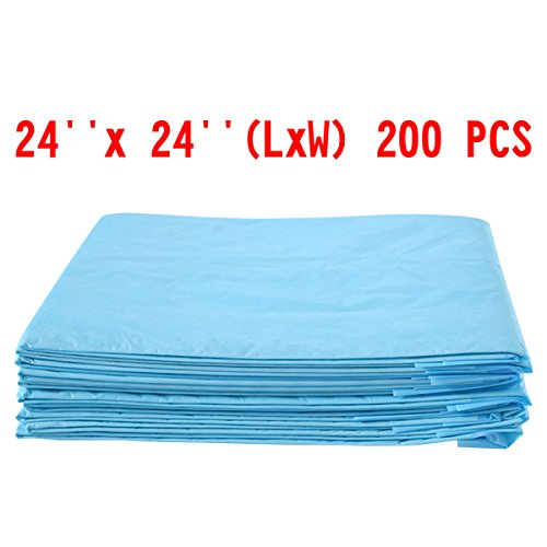 24'' x 24'' Puppy Pet Pads Dog Cat Wee Pee Piddle Pad training underpads 200 PCS