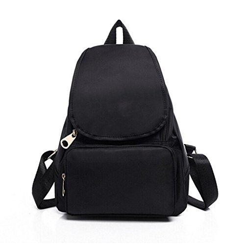 Shoulder Student Ms portable amp;F Nylon Black bag ZY backpack backpack shoulder waterproof Bags 8qaH4WZw
