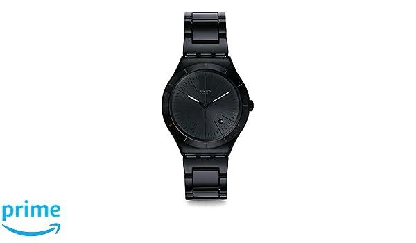 Swatch Reloj Analogico para Hombre de Cuarzo con Correa en Acero Inoxidable YWB404G: Amazon.es: Relojes
