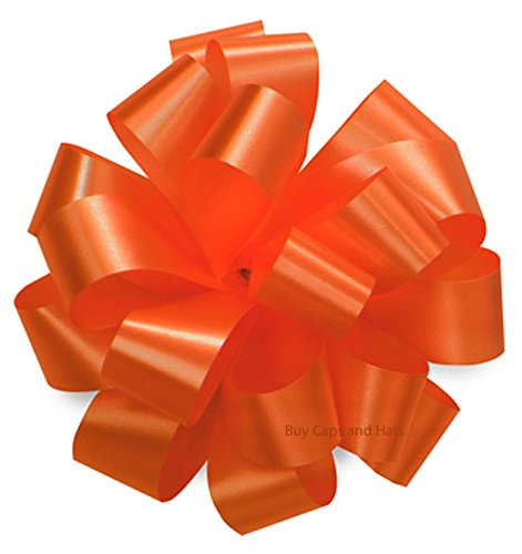 Orange Bows 10 Pack Gift Bow for Halloween Baskets Gifts Toys Weddings