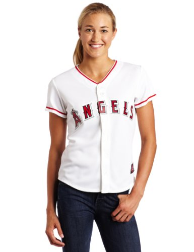 (MLB Los Angeles Angels Home Replica Baseball Women's Jersey, White, Medium)