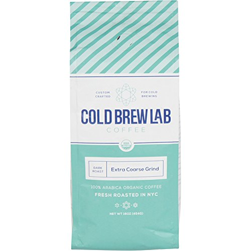Cold Brew Lab Initiate Organic Coffee Crafted for Cold Brewing, Extra Coarse Grind Size, Dark Roast, 1 LB Bag