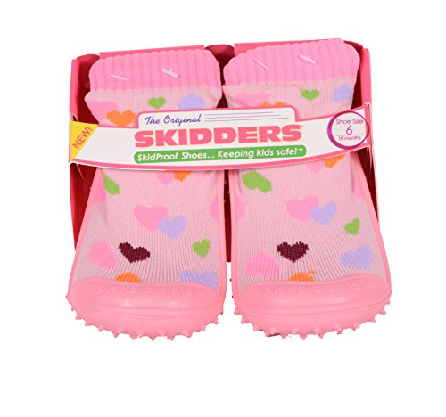 Skidders Baby Toddler Girls Hearts Shoes Style #XY4434 (8) 24 Months