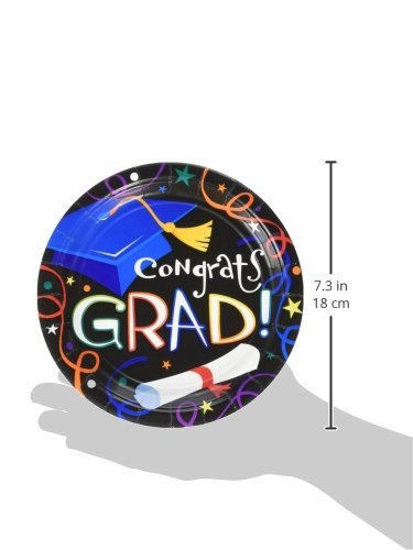 Grad Celebration Dessert Plates, 50ct by Party America (Image #2)