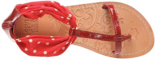 Sandalo Tstrap Chaussures Foulard Con of Colors femme basses Rouge california wTESqZ