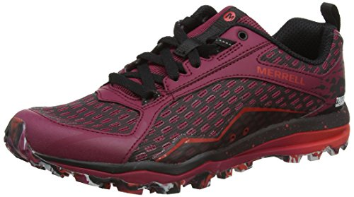 Merrell All Out Crush Tough Mudder, Zapatillas de Senderismo para Mujer Rojo (Beet Red)