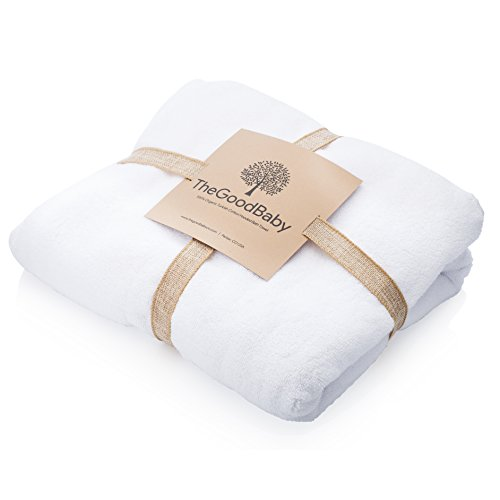 Premium 100% Organic Turkish Cotton Hooded Baby and Toddler Bath Towel by Parker Baby Co.