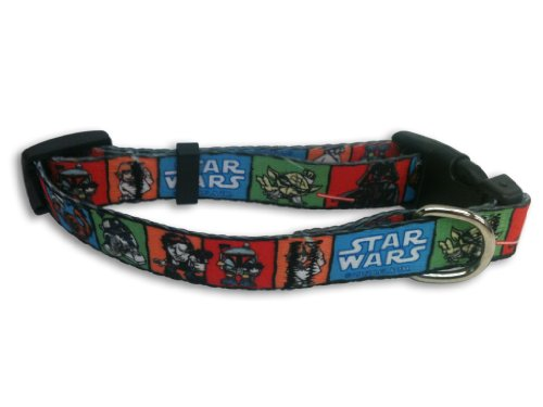 Platinum Pets Star Wars 5/8-Inch Nylon Collar, Toon Design