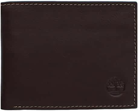 Timberland Men's Wellington Leather RFID Blocking Exclusive Bifold Commuter Security Wallet