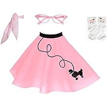 Hip Hop 50s Shop 4 Piece Child Poodle Skirt Costume Set