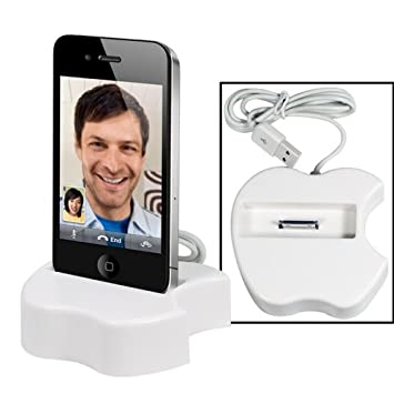 Base Dock Station Cargador de mesa forma manzana para Iphone ...