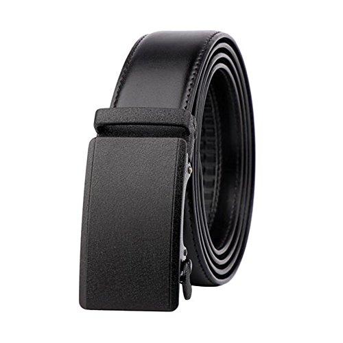 """Men's Belt Ratchet Grain Leather Stitched Automatic Buckle Belt 28""""-41"""" Buckle1"""