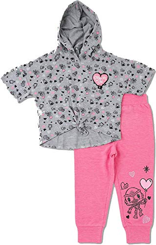 Universal Little Monsters Toddler Girls Top and Bottom Set - Heather Gray (5T)]()