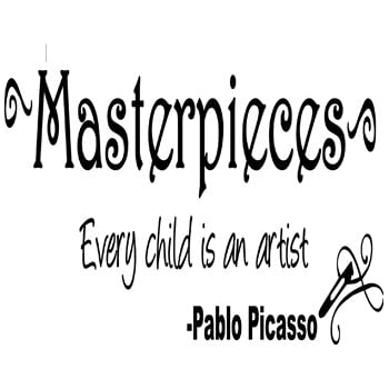 Amazon Com Pablo Picasso Quote Every Child Is An Artist