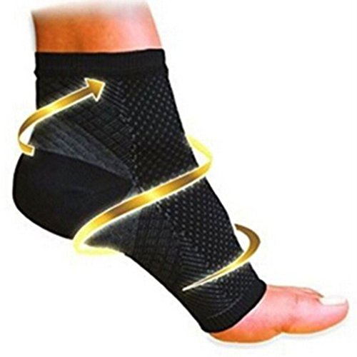 Dolland Plantar Fasciitis Compression Socks, Foot Compression Sleeves for Ankle/Heel Support, Increase Blood Circulation, Relieve Arch Pain, Reduce Foot Swelling,BlackL/XL