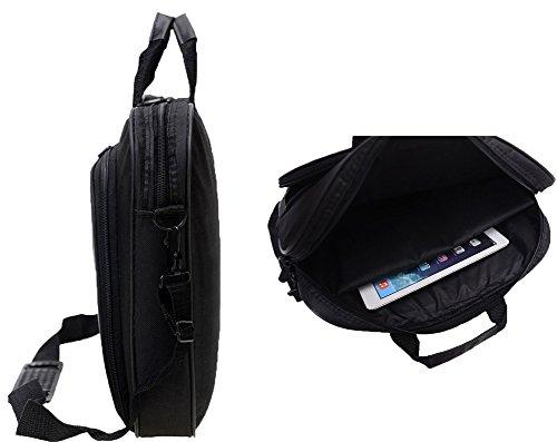 Messenger Bag For 15 Inch Laptop Computer Bag Macbook Shoulder Bag Business Backpack College Bookbag Travel Business Backpack Black Bag by FL Margaret (Image #5)'