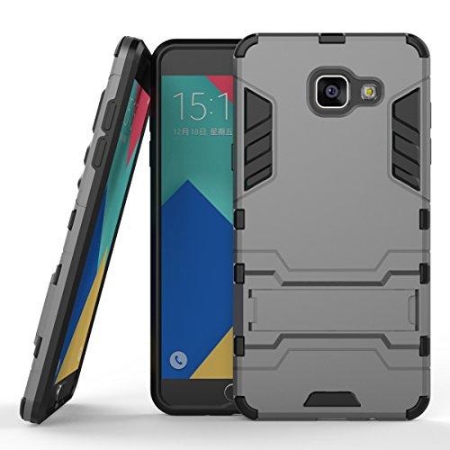 Tough Hybrid Dual Layer Case for Samsung Galaxy A510 A5 2016 (Grey) - 3