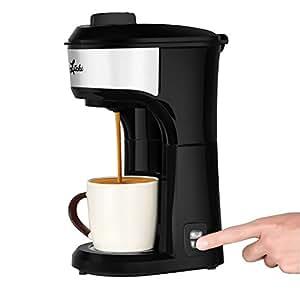 Single Serve Coffee Maker With Ground Coffee : Amazon.com: Litchi Single Serve K-CUP Pod Coffee Maker Ground Coffee Machine 2-in-1 15OZ, Black ...