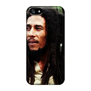 Iphone 5/5s WgZ3867KHgp Support Personal Customs Vivid Bob Marley Pattern Great Cell-phone Hard Cover -CharlesPoirier